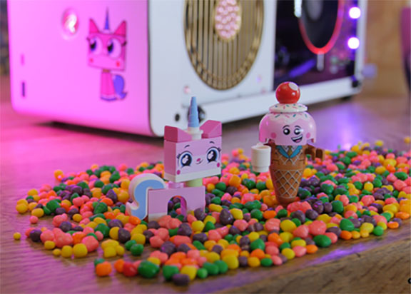 Unikitty and rainbows