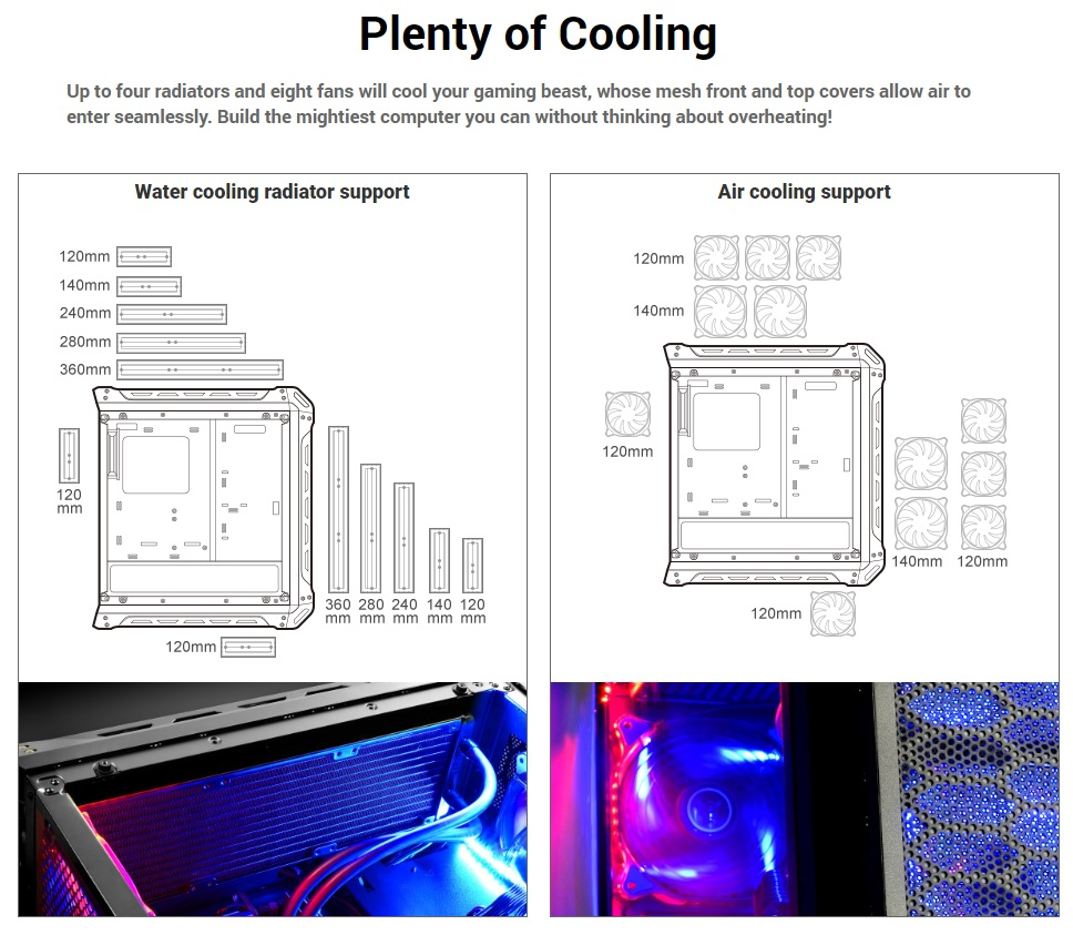 Cougar Panzer-S cooling support