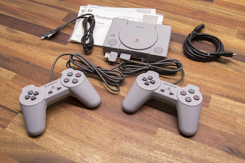 Sony PlayStation Classic unboxing: The console with two controllers