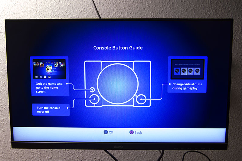 Sony PS1 console button guide