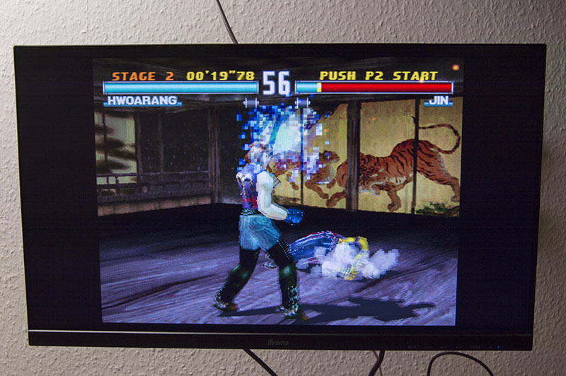 Sony PS Classic, Tekken 3 is in European PAL version