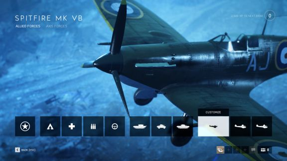 Battlefield V allied Spitfire fighter plane