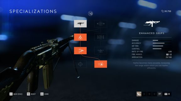 Battlefield V weapon specializations