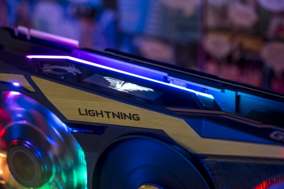 MSI GeForce RTX 2080 Ti Lightning Led Bildschirm