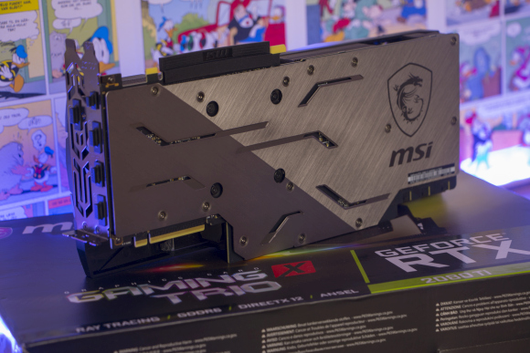 The MSI GeForce RTX 2080 Ti backplate creates airflow and leads away heat