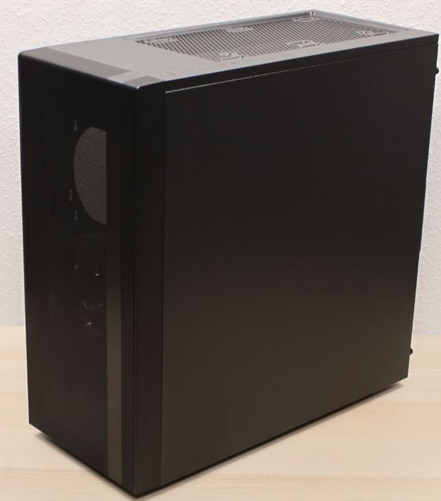 NR600 cooler master case right view