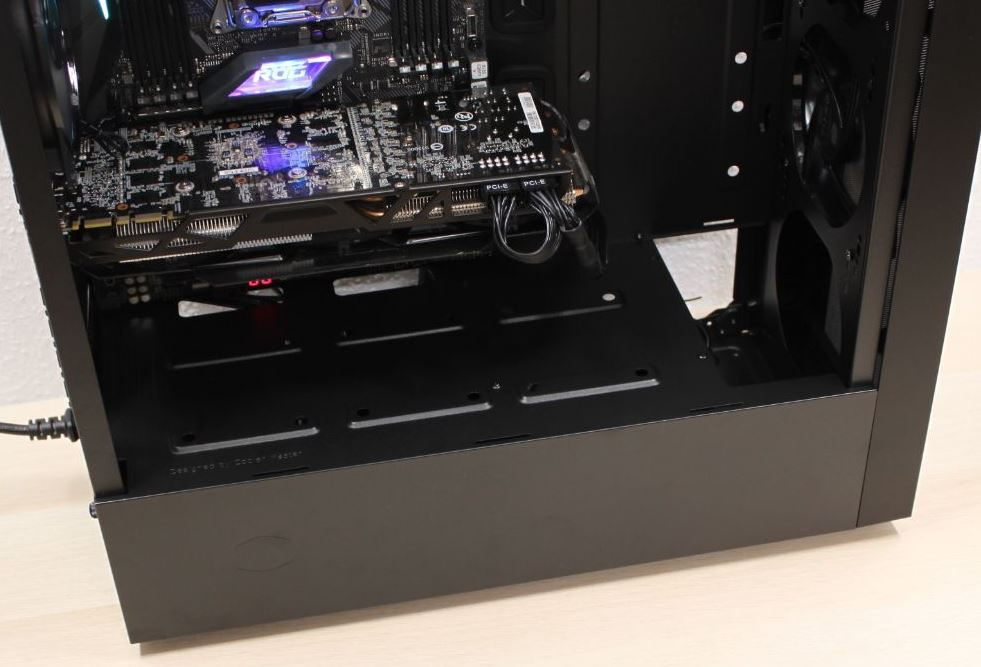 cooler master nr600 case front view motherboard