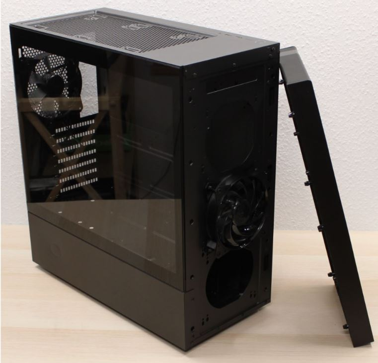 midi case cooler master NR 600 side off