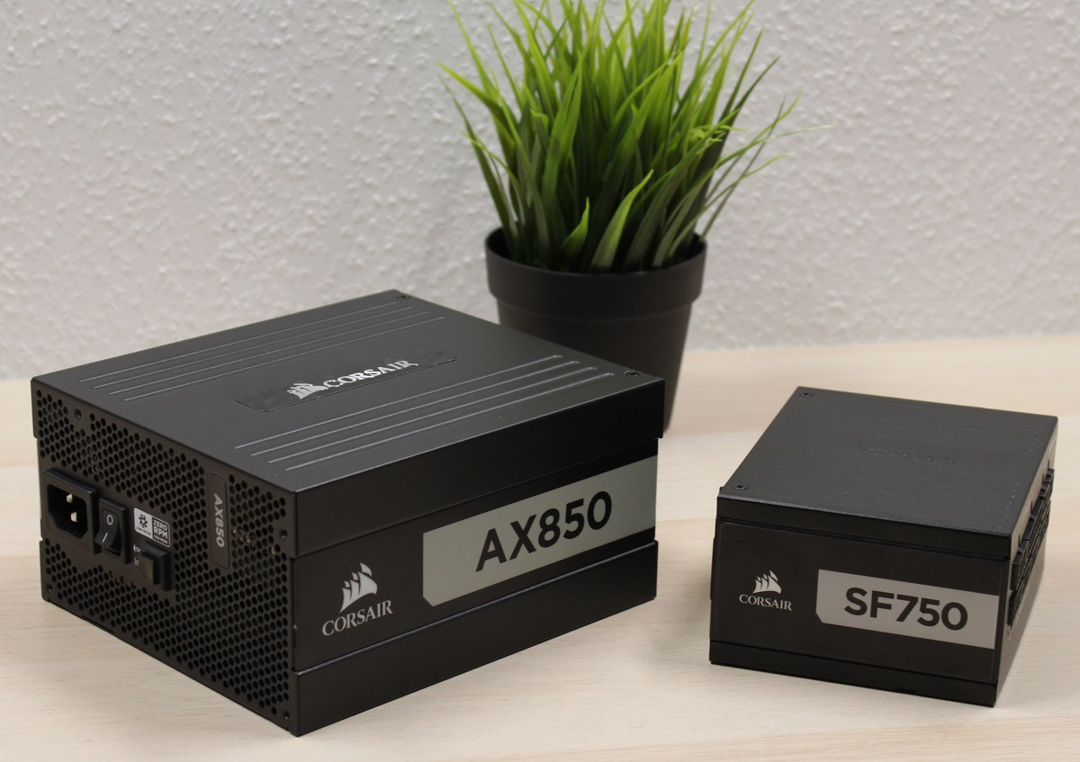 SFX vs. ATX PSU: Corsair SF750 vs. AX850