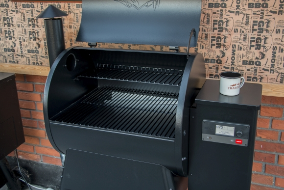 front open trager 575 pro grill pellet