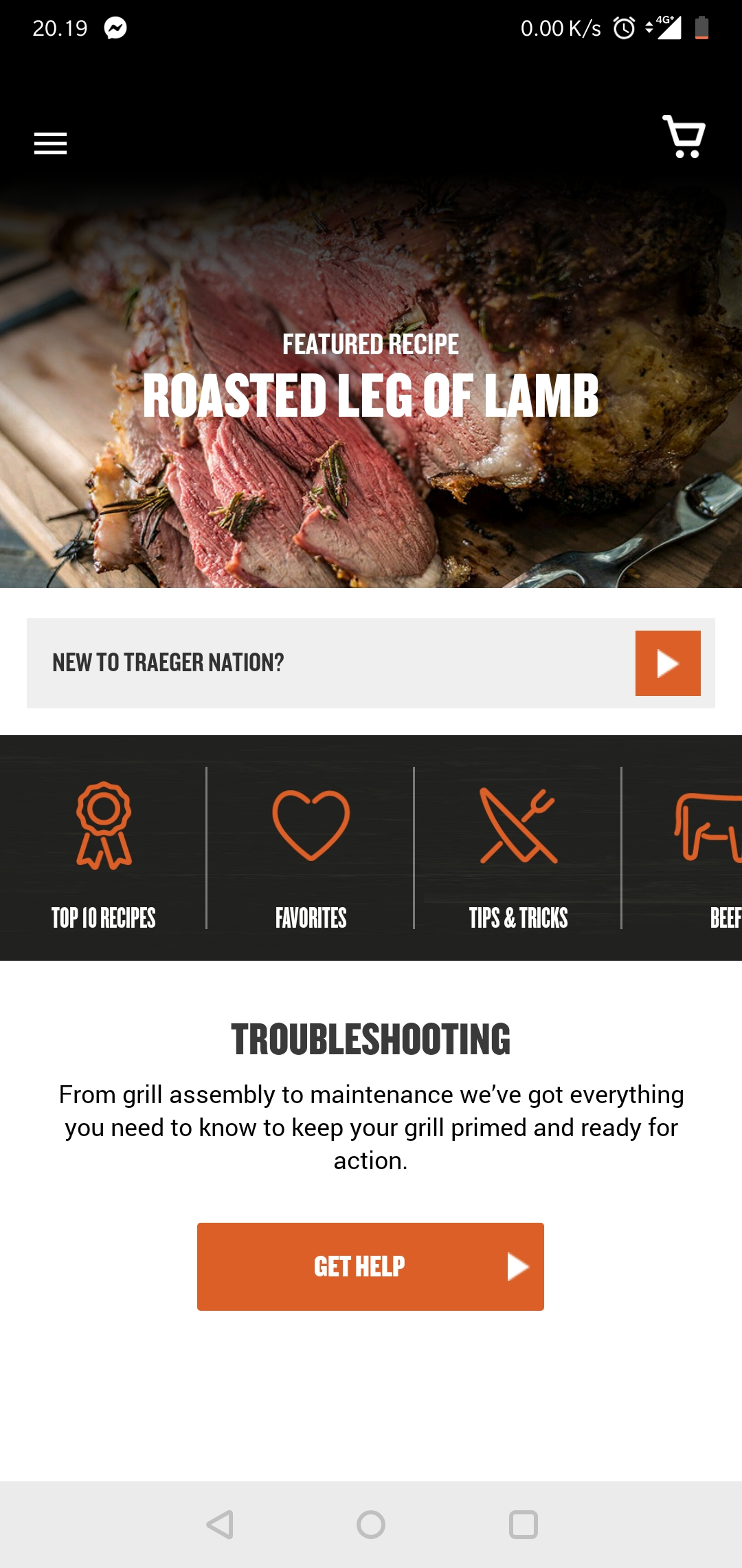 mobile app traeger grill
