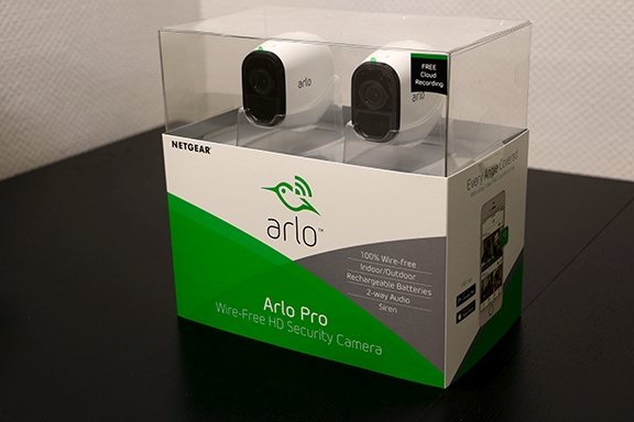 Netgear Arlo Pro camera in pack